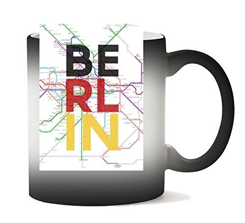 Berlin Metro Map Mok met kleurverandering