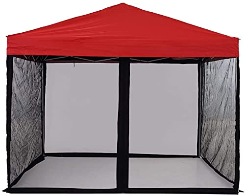 Mosquito Net for Outdoor Patio and Garden, Screen House for Camping and Deck , Outdoor Gazebo Screenroom , Zippered Mesh Sidewalls for 10x 10' Gazebo and Tent (Screen House in Black)