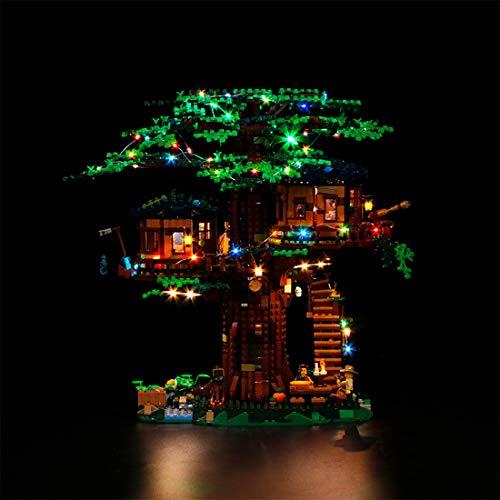 TETAKE Juego de iluminación LED para casa de árbol Lego 21318 Ideas (no incluye modelo Lego)