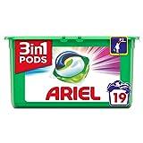 Detergente en pastillas Ariel 3 en 1, 19 lavados