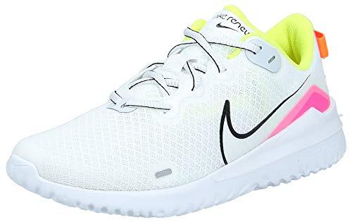 Nike Wmns Renew Ride, Scarpe da Corsa Bimbo 0-24, White/Black/Pink Blast/Total Orange, 37.5 EU