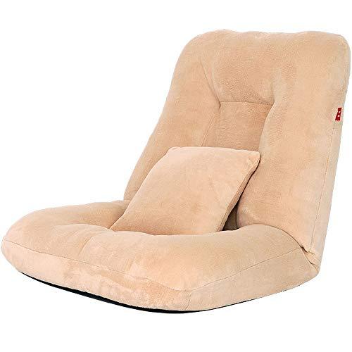 Lpinvin Frijol Silla del sofá Bolsa Silla de Piso Sillón Plegable Plegable de algodón Acolchado de Estilo japonés Sillas Tatami Solo sofá (Color : Beige, Size : 116.0 cm*68.0 cm*17.0 cm)