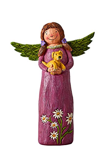 Studio M Wings of Whimsy Better Together Hand-Painted Inspirational Angel Figurine, Decorative Home Décor Sculpture, Beautiful Wood-Carved Look, 5.75 x 8 Inches