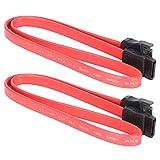 Aiwend Cables SATA, 19.7in 10pcs Cable Sata 7Pin Macho a Hembra SSD Cable de extensión de Datos para transmisión de Datos de Disco Duro Externo, Cable de extensión Cable de Datos de Disco Duro(0.5M)