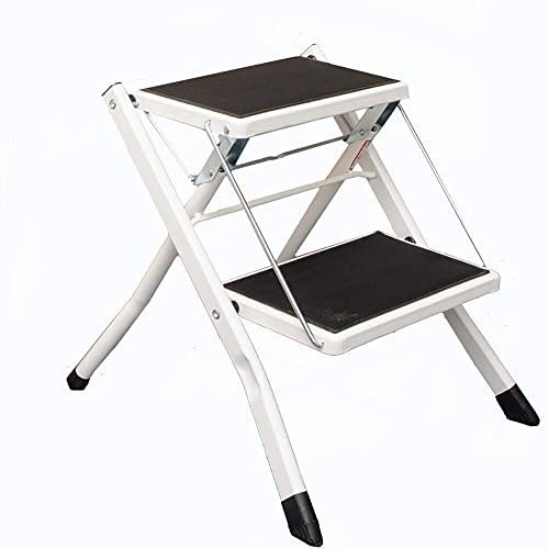 LJWJ Ladders Telescopische Ladder Draagbare Opvouwbare Stap Krukken, Voetladder, Smeedijzer 2 Laag Huishoudelijke Ladder…