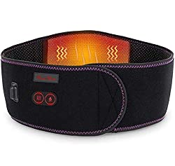 Heating Pad Back Massager for Lower Back Pain, Rechargeable Battery Far Infrared Heat Therapy, Heated Waist Belt Back Brace Wrap-Abdominal and Back Pain Relief Lumbar Spine Stomach Arthritis & Raynaud