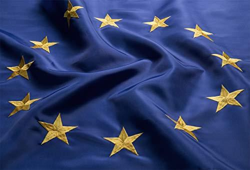 Lixure Europa Flagge Europäische Union 150 x 90 cm EU Flagge Top Qualität Euro Blau 12 Stickerei-Sterne - Durable 210D Nylon -Nicht Billigeres Polyester MEHRWEG