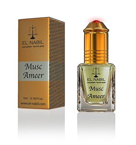 Musc Ameer 5ml Parfum Duft - El Nabil Misk Musk Moschus Parfümöl für MANN & HERREN - Ätherische Essenzen Natur Perfume Oil Attar Scent