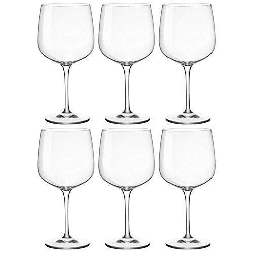 Bormioli Rocco Bicchiere da Gin Tonic a Coppa - in Vetro - 755 ml - 6 Pezzi