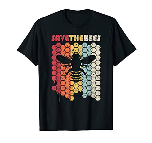 Save The Bees Shirt. Retro Style Climate Change T-Shirt