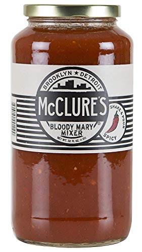 McClure's Bloody Mary Mixer, 4 x 32 Ounce Jars