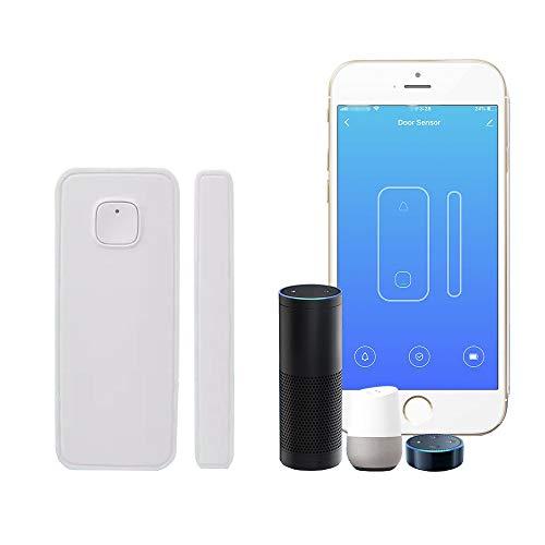 XMSIA Intelligenter Fenster Türsensor WiFi Home Tür und Fenster Magnetal Alarm Smart Life App Control Home Security...