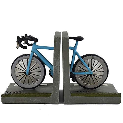 Road Bike Bookends Plank Tidy Heavyweight Office Home Unieke Britse Outdoor Decor voor Boeken, DVD's, Vinyl Opslag H15cm