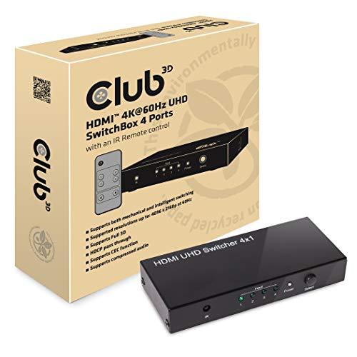 Club 3D HDMI 20 UHD Switchbox 4 ports 4K 60Hz CSV 1370