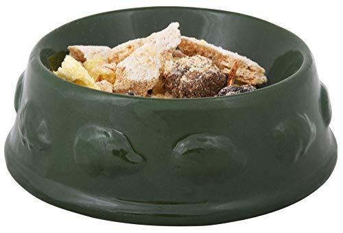 Rivanto 2 Stück Igel Futterschale aus Keramik in grün, Ø 12,5 x 4,6 cm