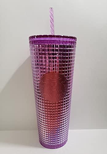 Starbucks 2021 Summer Purple and Red Hue Grid Kaleidoskop 680 ml Ventilbecher