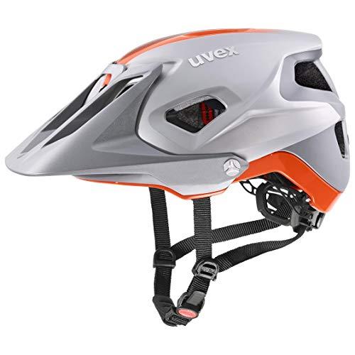 uvex Unisex– Erwachsene Quatro integrale Fahrradhelm, Silver-orange mat, 56-61 cm
