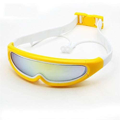 Gafas De Natación, Gafas para Nadar Adecuado A Los 4 A 12 Años Niños, Gafas De Correa De Silicona con Lente Antivaho para Proteger El UV,Unisex Niños (Color : Yellow)