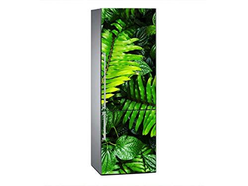 Oedim Vinilo para Frigorífico Hojas Verdes 185x60cm | Adhesivo Resistente y Económico | Pegatina Adhesiva Decorativa de Diseño Elegante
