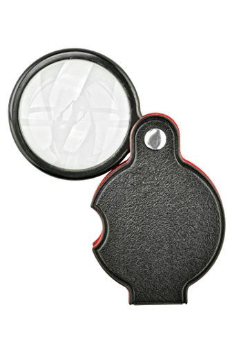 "SE 5x Folding Pocket Magnifier with 1-1/2"" Glass Lens Diameter - MF2054B"