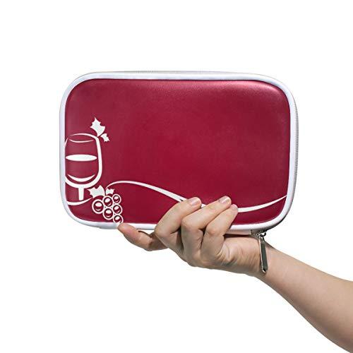 FANTAZIO rode wijnglazen potloodkoffer grote capaciteit pennenzak make-up zak duurzame studenten briefpapier perfect cadeau voor studenten
