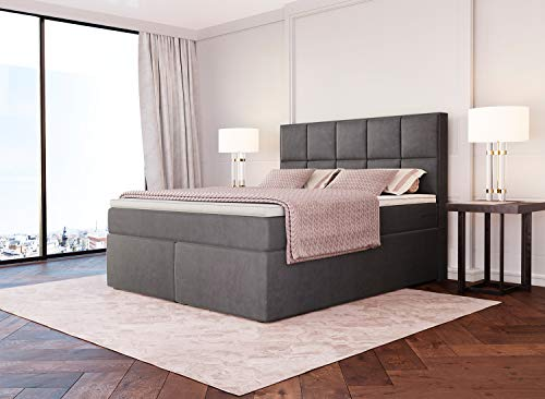 Dream Boxspringbett Grau-Anthrazit Luxusbett Bild 6*