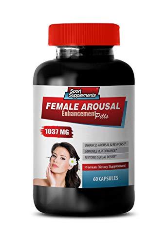 Women Horny Sexual Pills - Female Arousal Enhancement Pills 1037 MG - Premium Dietary Supplement - Horny Goat Weed Health Solution - 1 Bottle 60 Capsules