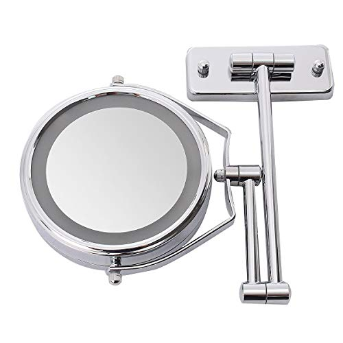 SPLLEADER 6 Zoll Double Side Led beleuchtet Vergrößerungs Bad Rasieren Dusche Spiegel 7X Make-up Kosmetikspiegel Wand mit Licht