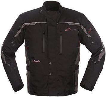 Jacke S, schwarz//gelb wasserdicht atmungsaktiv Motowear Motorradkombi P2 Textil