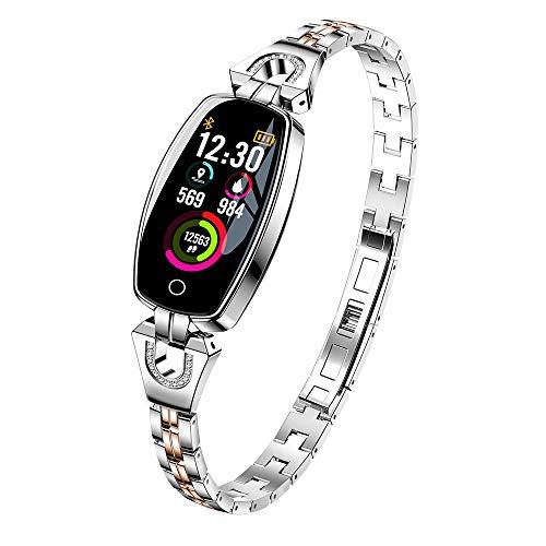 Igemy 2018 Super Luxury Intelligent Wristband mit Bunten Bildschirm Blutdruck/Pulsmesser Smart Armband Uhr Schrittzähler (Silber)