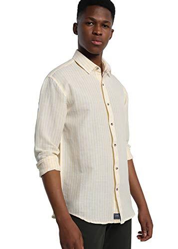 LOIS JEANS - Camisa de Rayas para Hombre   sintético   Tallaje en Pulgadas   Talla Inch - S