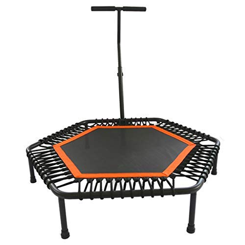 XHNXHN Trampolino Elastico Fitness Trampolino Super Jump Training Trampolino Professionale con Manico Elastico Trampolino (Colore: Arancione, Dimensioni: 110 * 110 * 26 CM)
