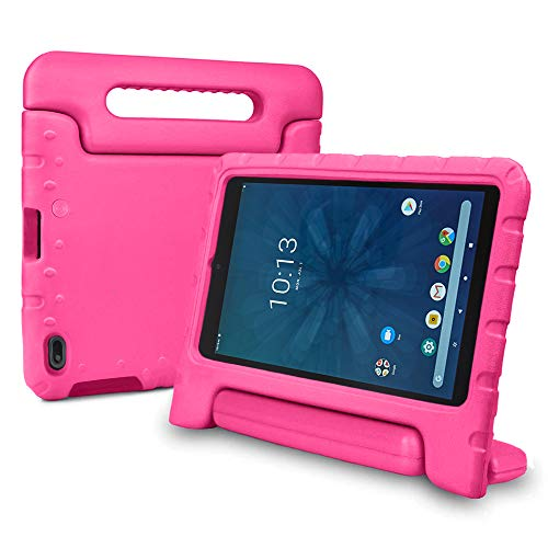 """Bolete Case for Walmart Onn 8"""" Tablet 2019 Release, Kids Friendly Light Weight Shock Proof Durable Protective Handle Stand Cover for Walmart Onn 8 Android Tablet ONA19TB002 - Rose"""