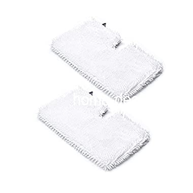 2-pack Washable Microfiber Mop Pads Cleaning Pads Replacement for Shark Steam Pocket Mops S3500 series, S3501, S3601, S3550, S3901, S3801, SE450, Reusable Cleaning Pads by Home Deals USA