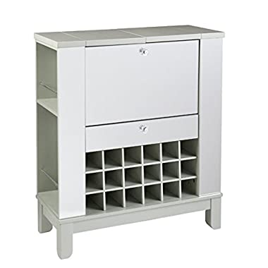 Southern Enterprises Mirage Mirrored Fold-Out Wine Cabinet