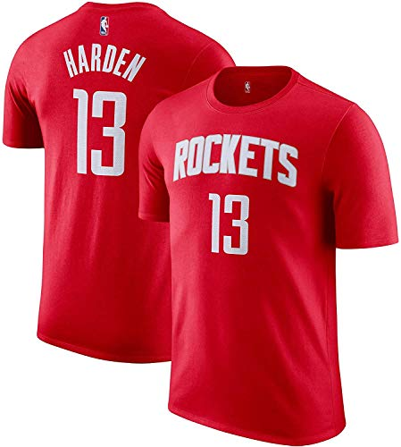 Outerstuff NBA Youth Performance Game Time Team Color Player Name and Number Jersey T-Shirt (James Harden Houston Rockets, Large (14/16))