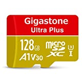 【5年保証】Gigastone Micro SD Card 128GB マイクロSDカード A1 V30 UHD 4K ビデオ録画 高速 4Kゲーム Nintendo Switch 動作確認済 100MB/S マイクロ SDXC UHS-I U3 C10 Class 10 メモリーカード SD 変換アダプタ付 w/adaptor