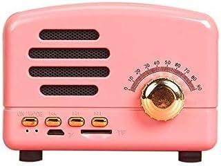 WHSS Smart Speaker Rétro Bluetooth sans Fil d'ordinateur Mini Radio Carte Caisson de Basses Décorations de la Maison (Colo...