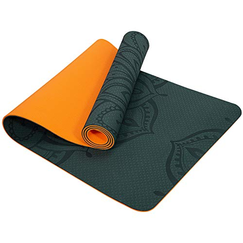 """Yoga Mat, 1/4 Inch TPE Eco Friendly Non Slip Yoga Mats Fitness Mat Extra Thick Exercise Workout Mat for Home, Stretching,Yoga, Pilates 72""""x 24"""""""