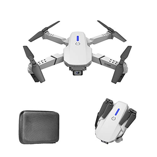 RAPG Mini Drone plegable E88 4k/1080P HD gran angular cámara doble Drone WiFi posicionamiento visual altura mantener brazo plegable 6-Axis Gyro RC Quadcopter