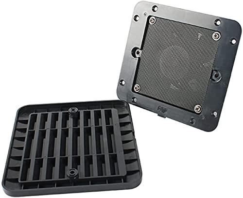 FCPLLTR Hardware de mejoras para el hogar 1 2V 8W Black Frigerid Vent con ventilador para RV Trailer Caravan Side Air Strong Wind Escape Automóvil Accesorios de Automóvil Accesorios de Hardware CAMPER