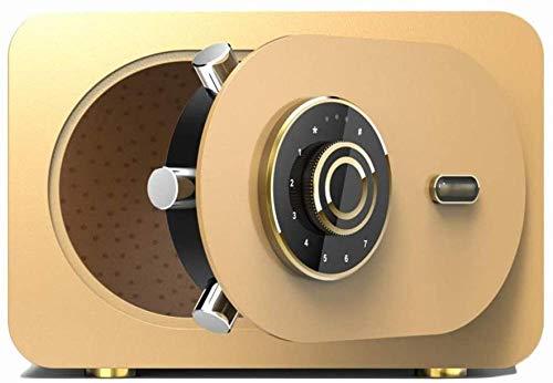 Safes Deposit Box Huishoudelijke Kleine Kantoor Kluis nachtkastje Wachtwoord Opbergdoos voor Sieraden Documenten Geld Safe Kabinet (Maat: 28 * 30 * 40cm)