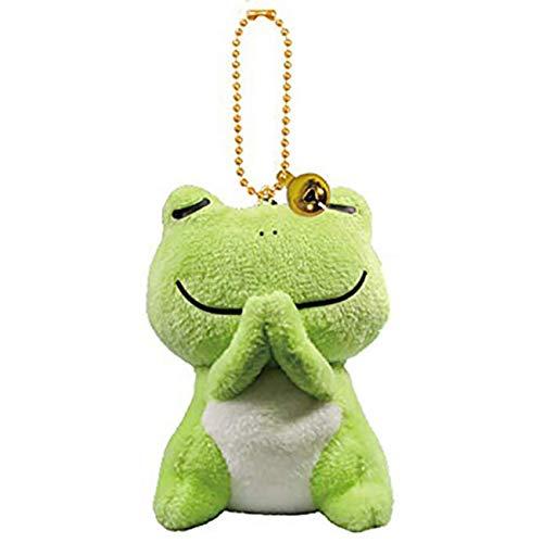 Stuffed Frog Keychain Plush Animals Pendants Ornaments Pray Good Things Green