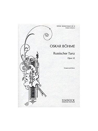 Russischer Tanz: op. 32. Trompete und Klavier. (Simrock Original Edition)
