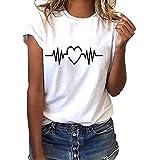 LANSKIRT_Blusa Mujer, Blusas Camisetas de Gasa Ropa de Mujer Suéter Jersey Camisas Manga Ajustable...
