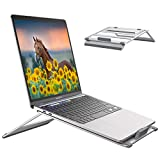 GIKERSY Supporto Portatile Porta Laptop Notebook Alluminio Ventilato con 4 Livelli di Angoli Regolabili in Altezza Supporto per PC per 10-15.6 Pollici Computer Portatili