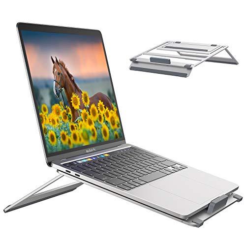 GMFIVE Laptop Ständer Multi-Winkel Einstellbar Notebook Computer Ständer Tragbarer Laptop Halter für Schreibtisch Belüftet Laptopständer die meisten 10-15,6Zoll Laptop Tablet