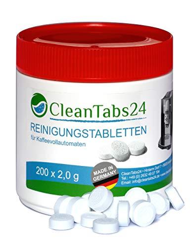 Reinigungstabletten für Kaffeevollautomaten 200x2g von CleanTabs24 geeignet für Jura, Siemens, Krups, Bosch, Miele, Melitta, WMF uvm…