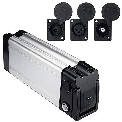 MXBIN Batería eléctrica Caja de Almacenamiento Caja de la E-Bici Cuadro Titular...