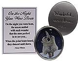 GanzMidwest On The Night You were Born Zinc Pocket Charm w/Story Card - Polar Bears